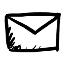 Hand-drawn email icon