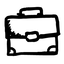 Hand-drawn briefcase icon